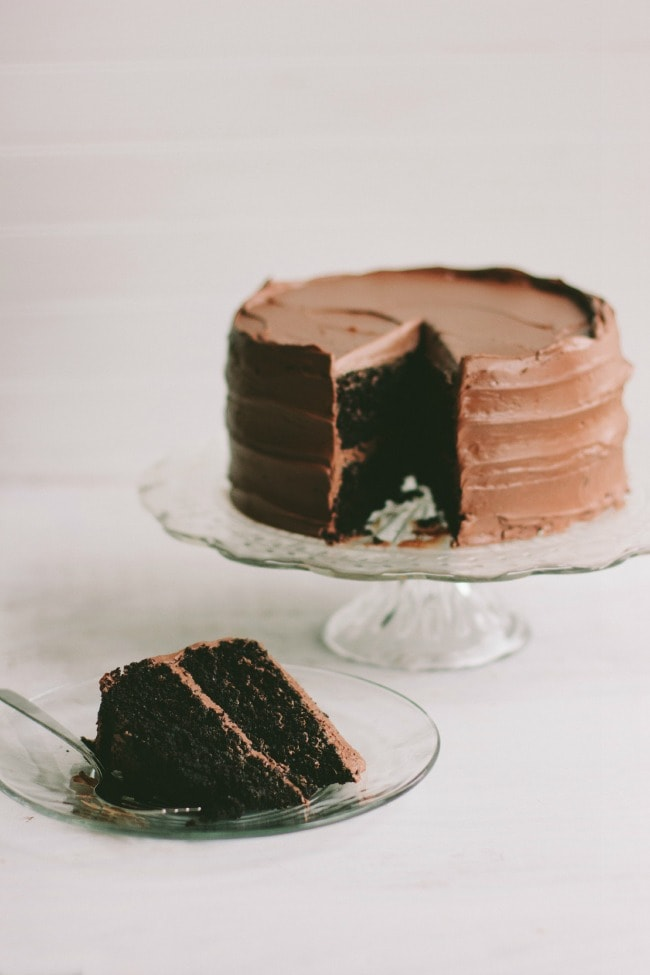 the chocolate cake | the vanilla bean blog