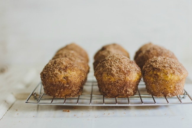 pumpkin doughnut muffins | the vanilla bean blog