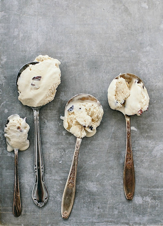 Coffee No-Churn Ice Cream with Cacao Nibs