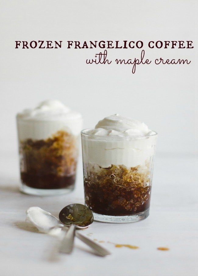 frozen frangelico coffee with maple cream | the vanilla bean blog