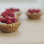 raspberry tartlets with amaretto cream
