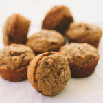 pumpkin muffins with cacao nibs