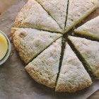 cream scones + grapefruit curd