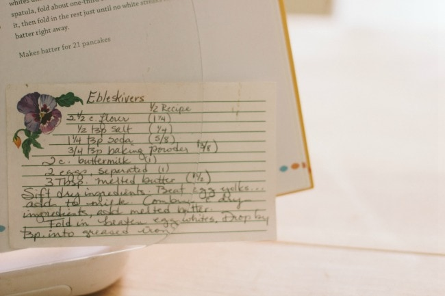 ebleskivers | the vanilla bean blog