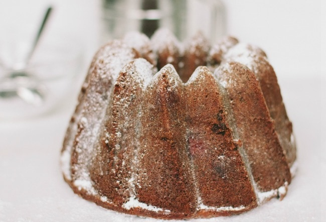 raspberry + chocolate bundt cake | the vanilla bean blog