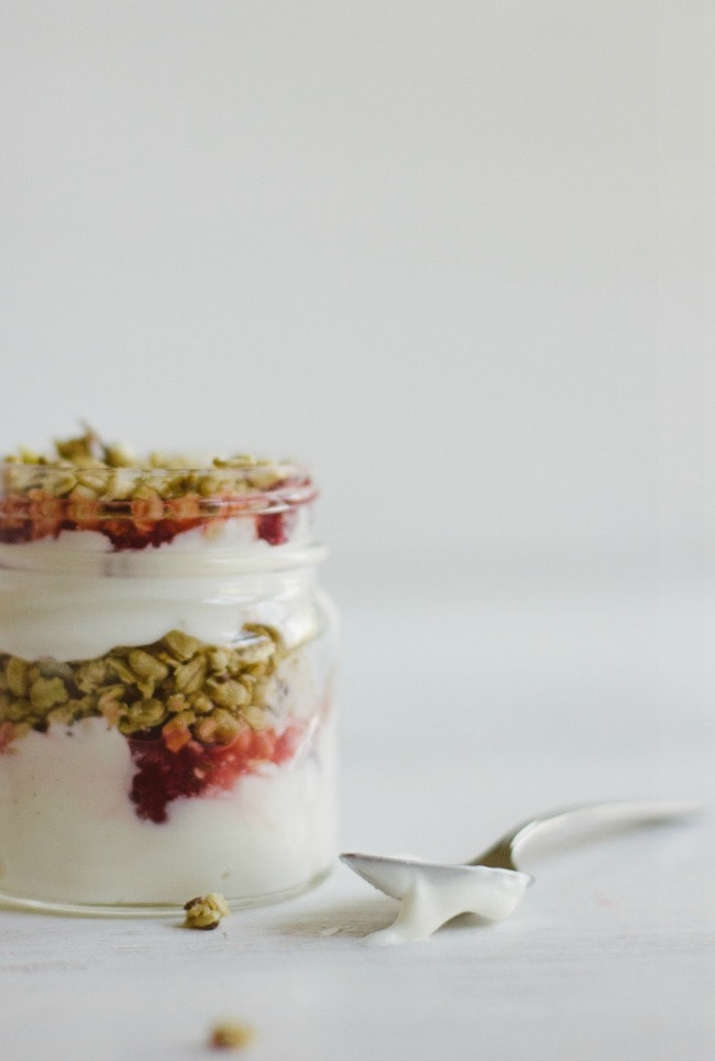 raspberry-rhubarb yogurt bowls   the vanilla bean blog