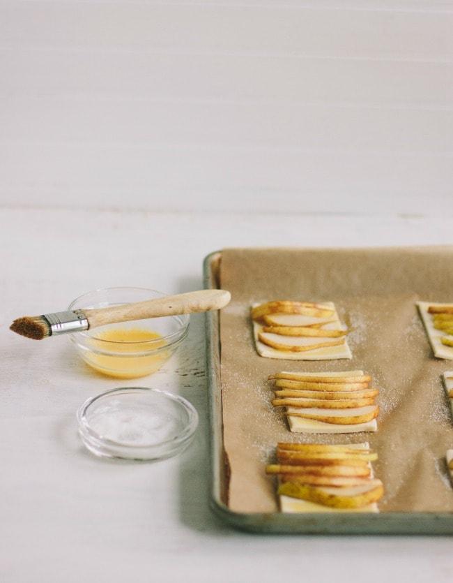 pear tarts with honey-bourbon crème fraîche | the vanilla bean blog