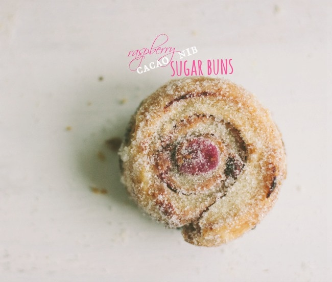 raspberry cacao nib sugar buns | the vanilla bean blog