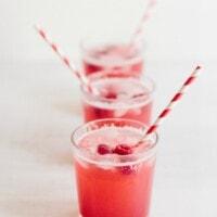 Rhubarb Raspberry Fizz