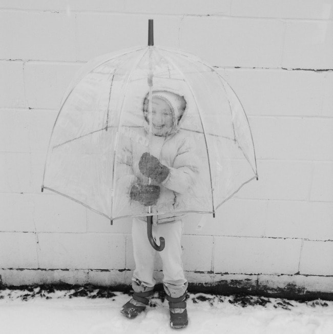 snow umbrella | the vanilla bean blog