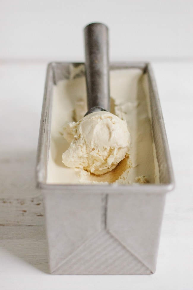 frangelico-coffee no-churn ice cream | the vanilla bean blog