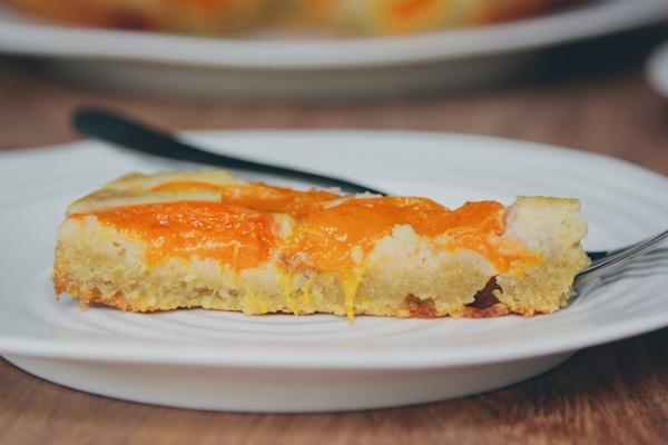 apricot, almond, and buckwheat cake