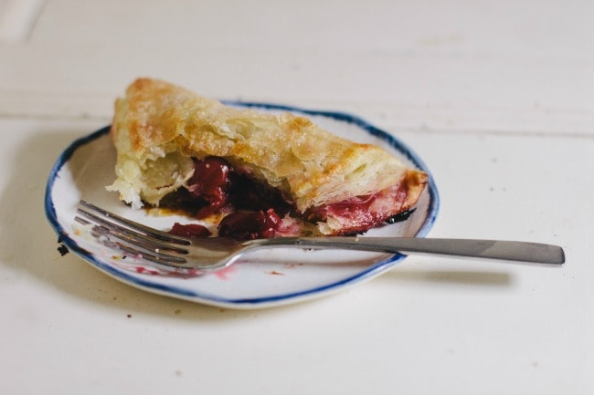 sour cherry turnovers | the vanilla bean blog