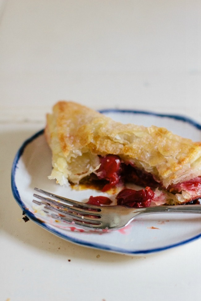 sour cherry turnovers | the vanilla bean blog