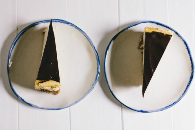 frangelico cheesecake with cacao nib crust | the vanilla bean blog