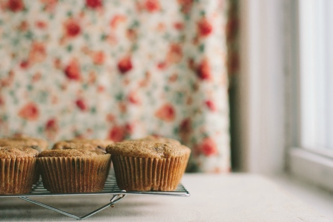 banana-chocolate-coffee muffins with whole wheat flour | the vanilla bean blog