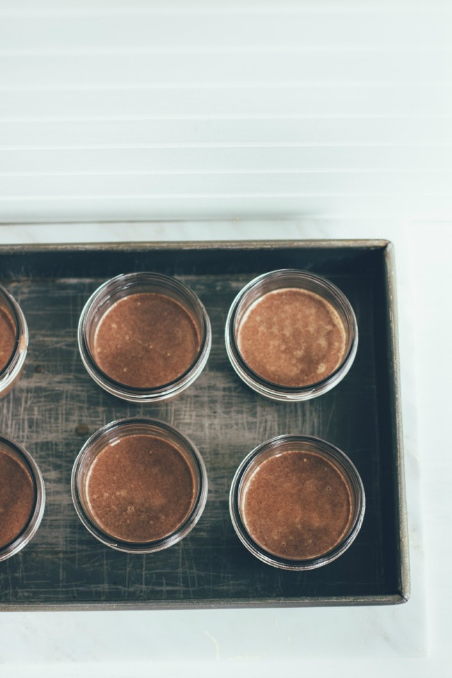 chocolate pots de crème with lavender and sea salt | the vanilla bean blog | Sarah Kieffer