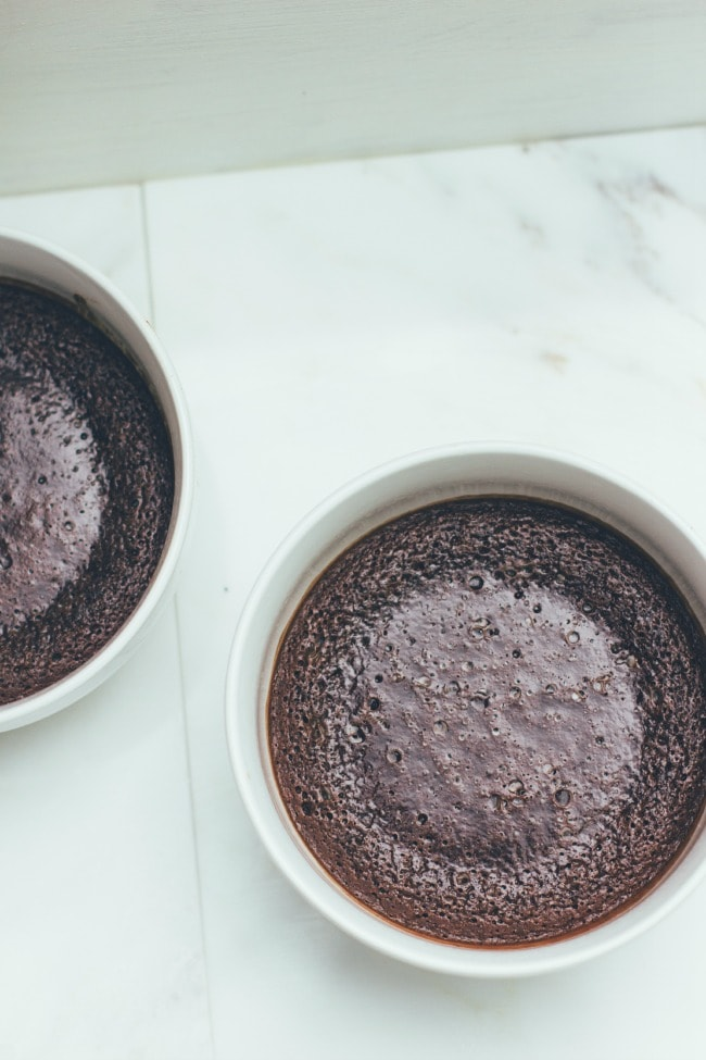 pudding cakes with no-churn basil ice cream | the vanilla bean blog
