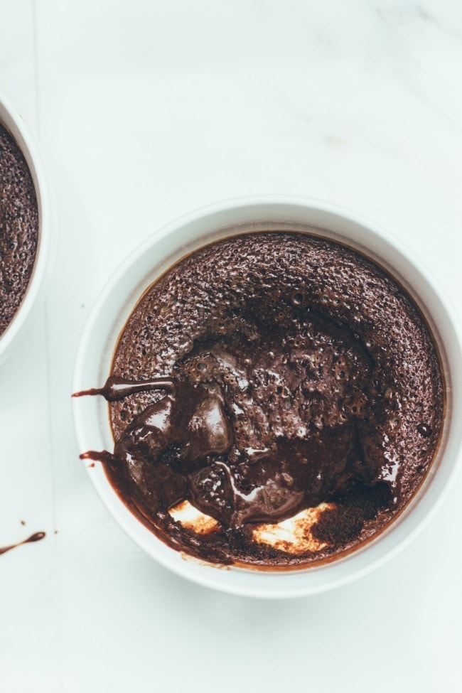 chocolate pudding cakes with no-churn basil ice cream | the vanilla bean blog