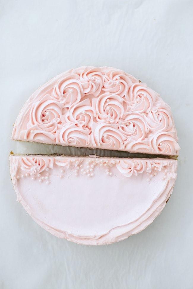 Buttermilk Cake with Rhubarb Buttercream | Sarah Kieffer | The Vanilla Bean Blog