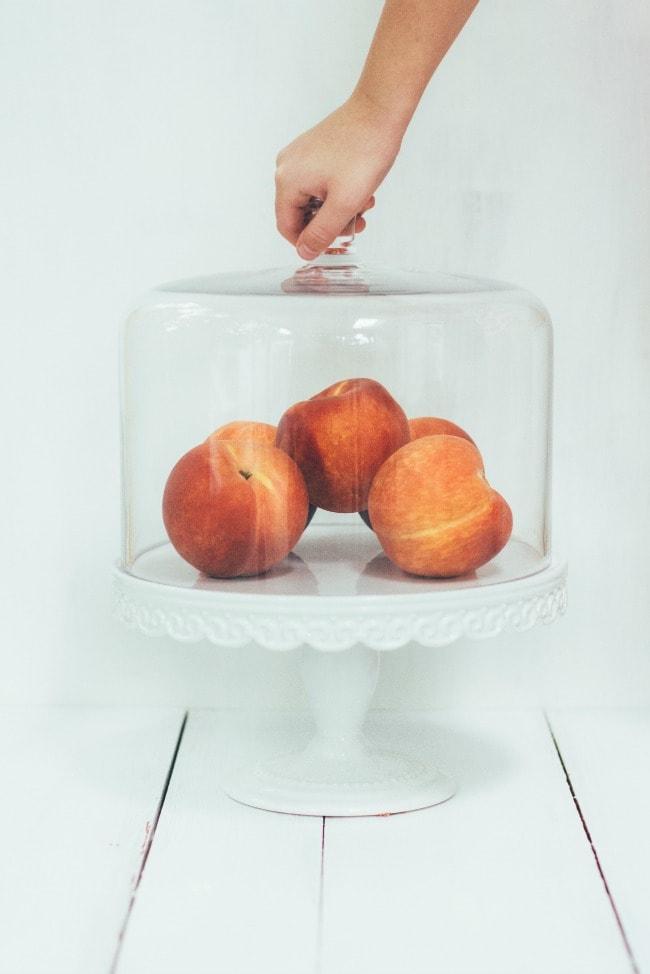 Peaches in A Cake Case   Sarah Kieffer   The Vanilla Bean Blog