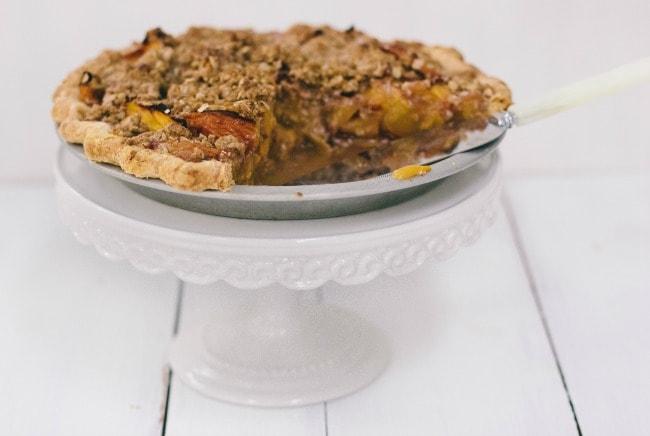 Peach Crumble Pie | Sarah Kieffer | The Vanilla Bean Blog