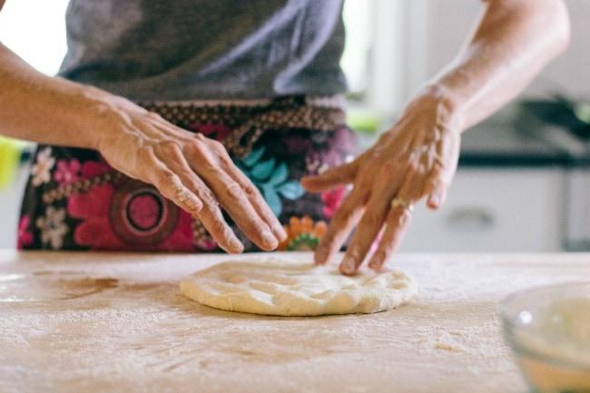 Zoë François making pizza | the vanilla bean blog