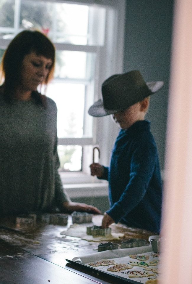 Cutting Out Holiday Sugar Cookie Dough | The Vanilla Bean Blog | Sarah Kieffer