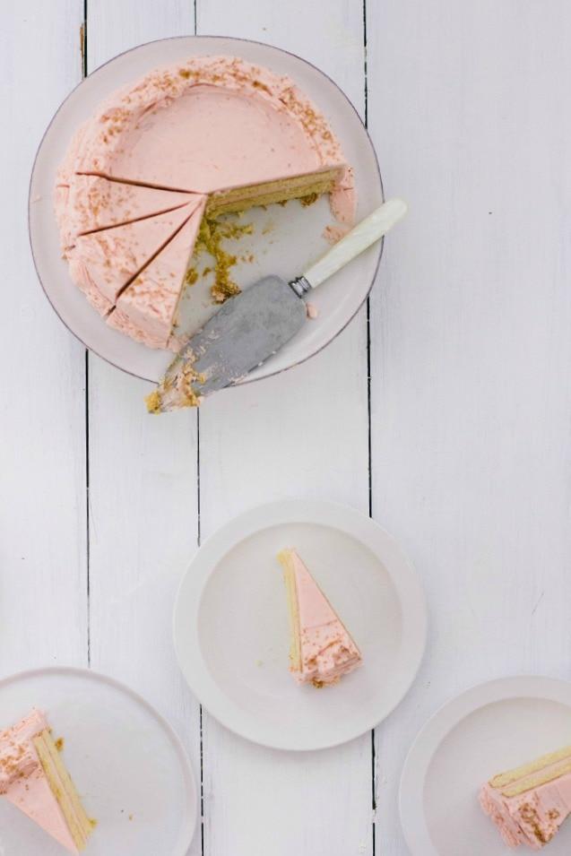 buttermilk cake with blood orange frosting | the vanilla bean blog
