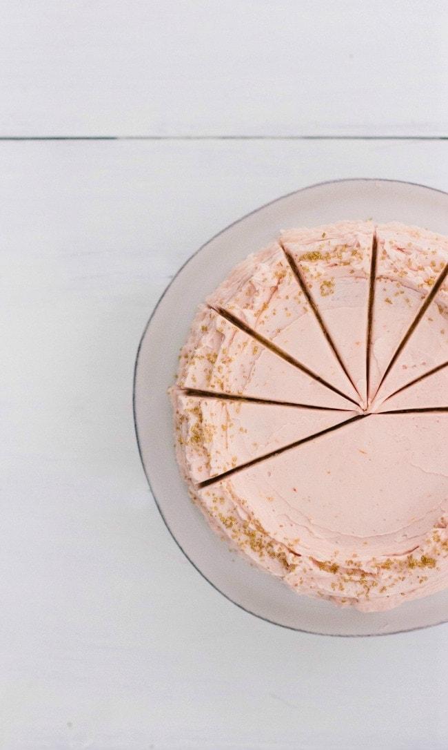 Buttermilk Cake with Blood Orange Frosting | Sarah Kieffer | The Vanilla Bean Blog