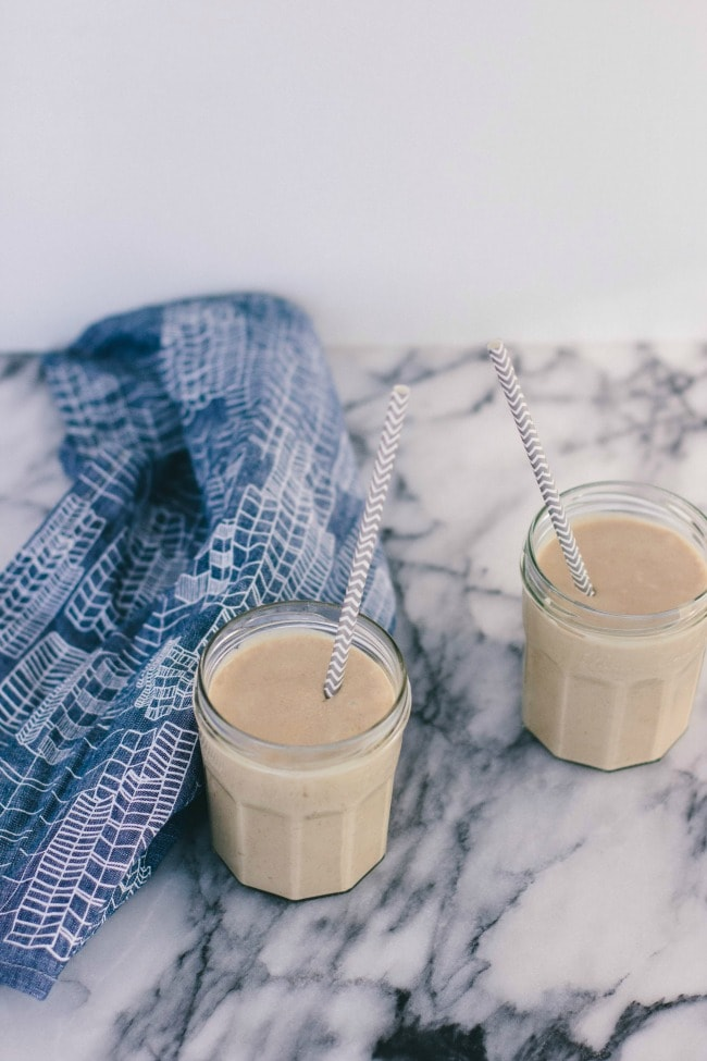 peanut butter-banana-coffee shake