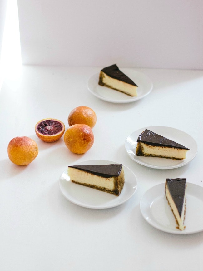 chocolate orange cheesecake | the vanilla bean blog