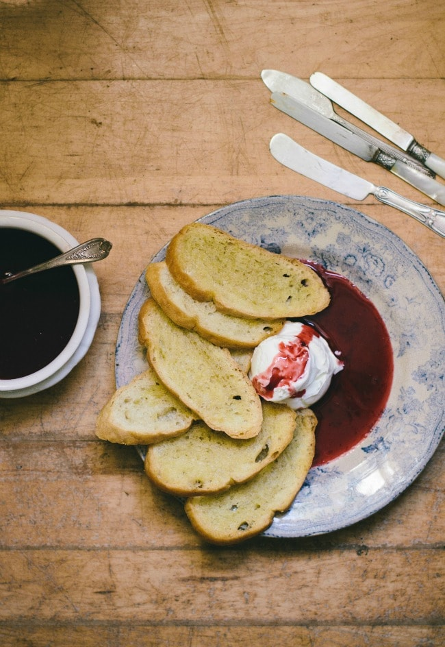 labneh with raspberry coulis