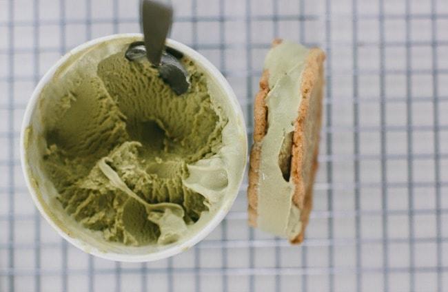 Toasted Sesame Oil Cookie with Green Tea Ice Cream | The Vanilla Bean Blog | Sarah Kieffer