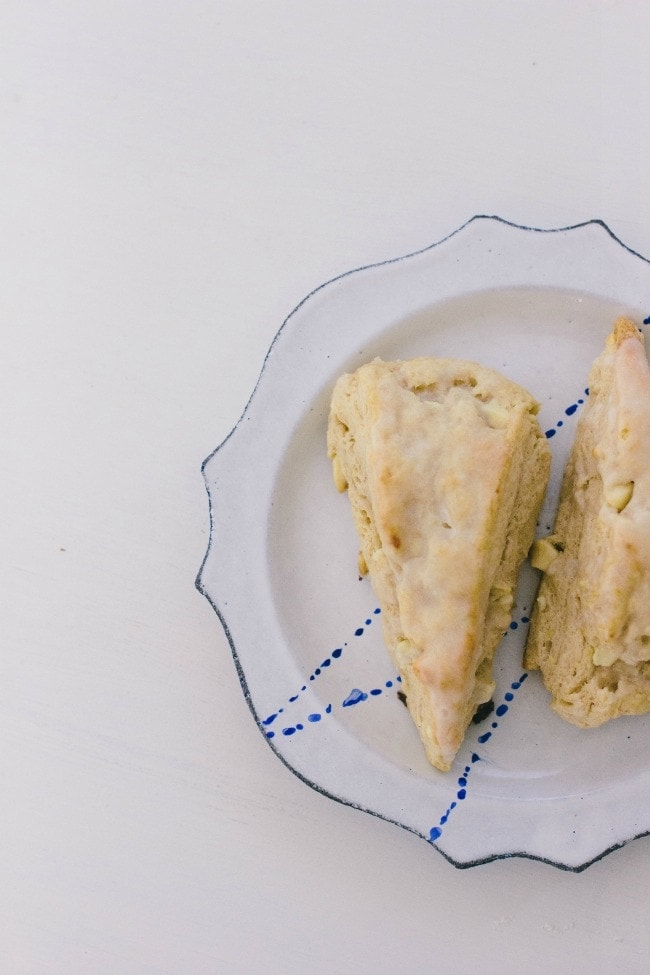 lemon white chocolate scones | the vanilla bean blog