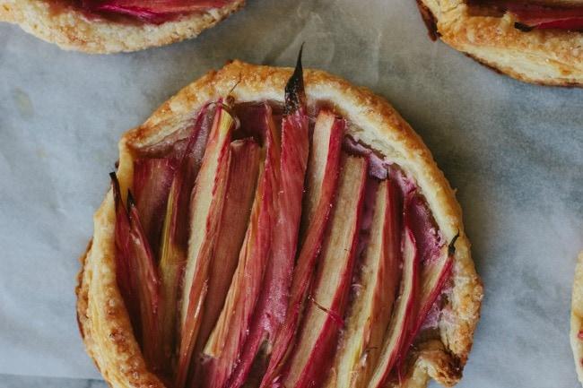 rhubarb puff pastry tart | the vanilla bean blog