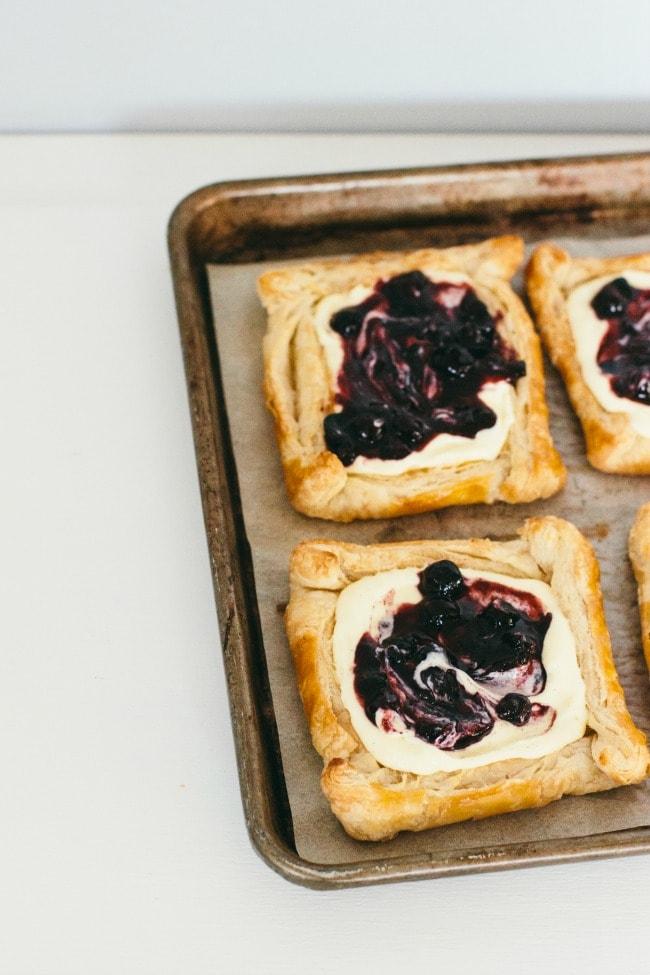 Puff Pastry Tarts with Blueberry Sauce | Sarah Kieffer | The Vanilla Bean Blog