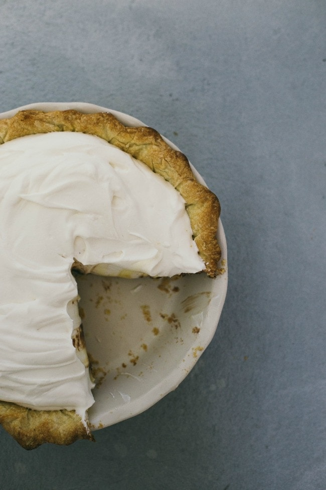 coconut cream pie | the vanilla bean blog