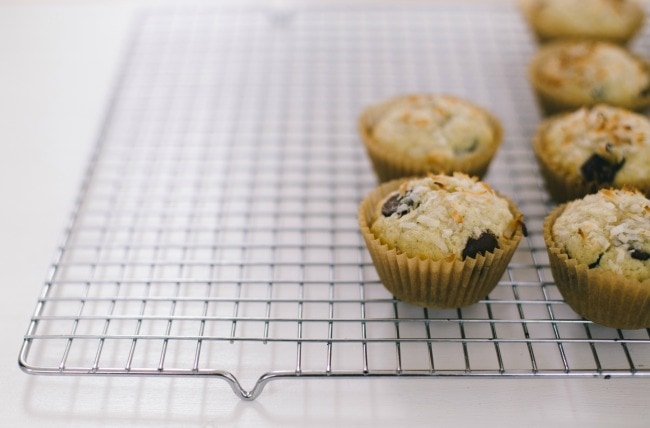 coconut chocolate muffins | the vanilla bean blog