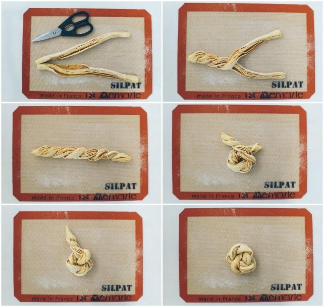Braided Brioche Knots Instructions | The Vanilla Bean Blog | Sarah Kieffer