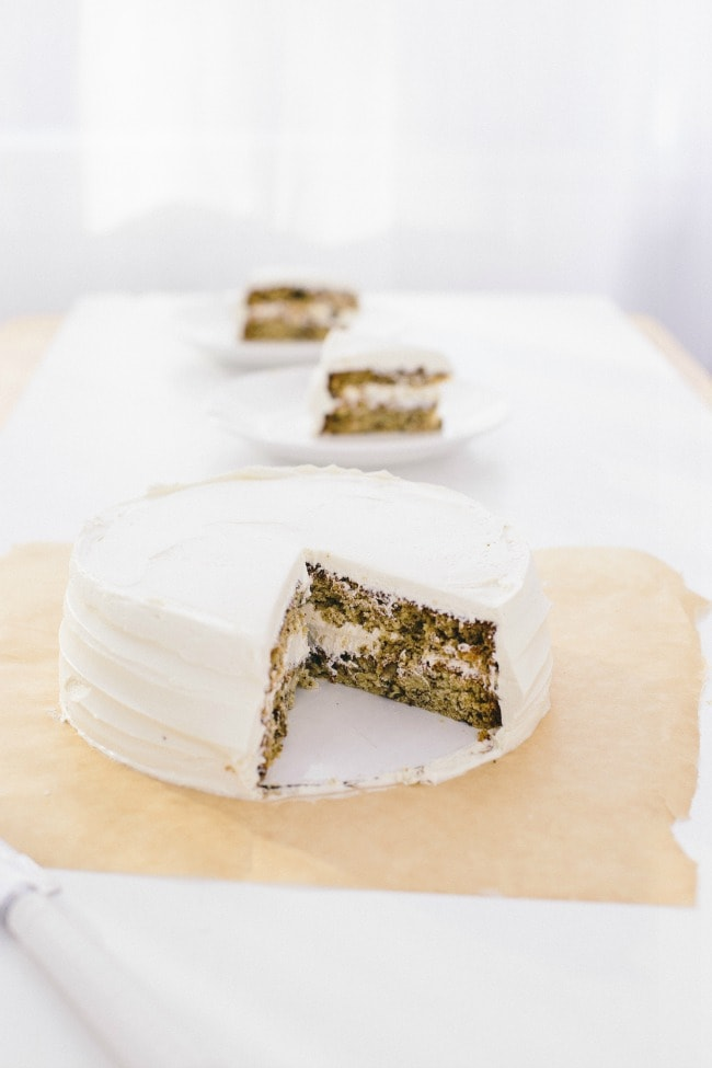 banana cake with penuche frosting | the vanilla bean blog