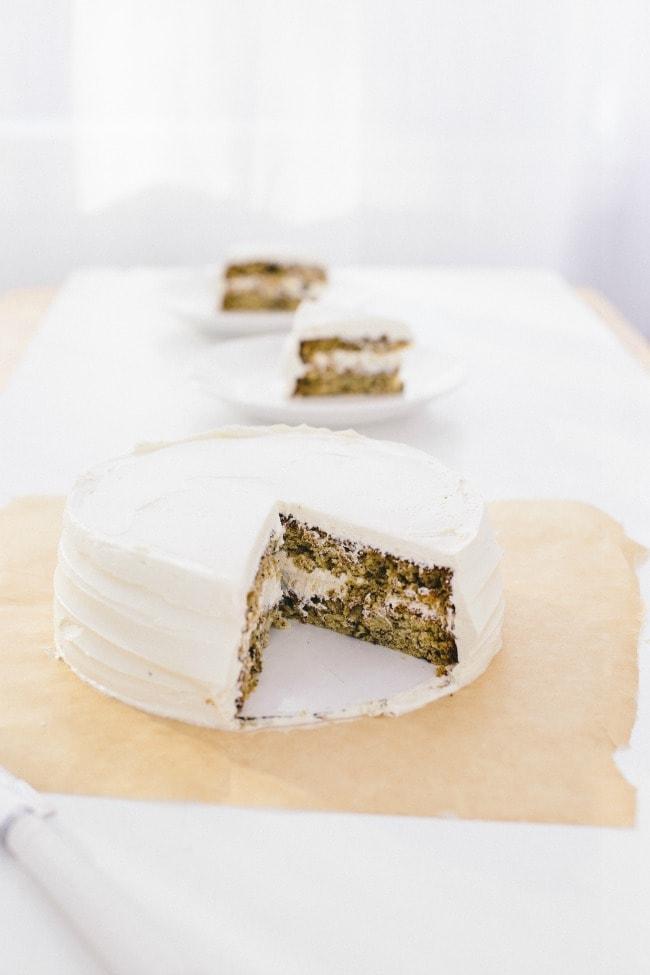 banana cake with penuche frosting | the vanilla bean blog