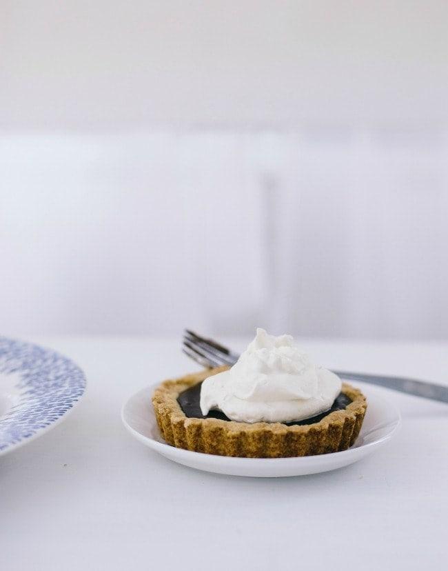 bittersweet chocolate shortbread tarts   the vanilla bean blog