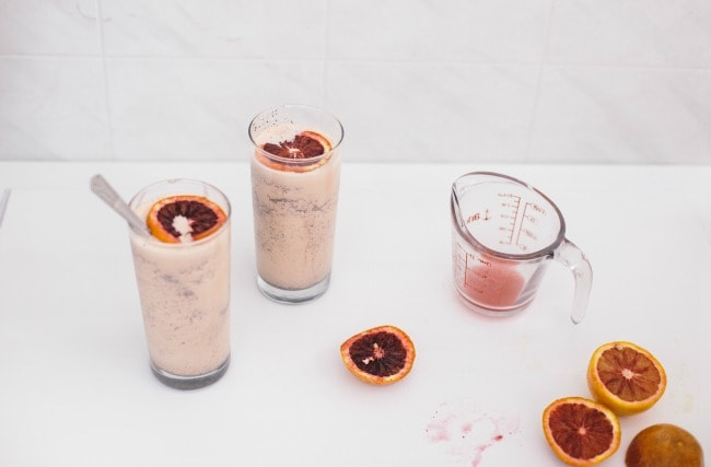 blood orange + chocolate shakes | the vanilla bean blog