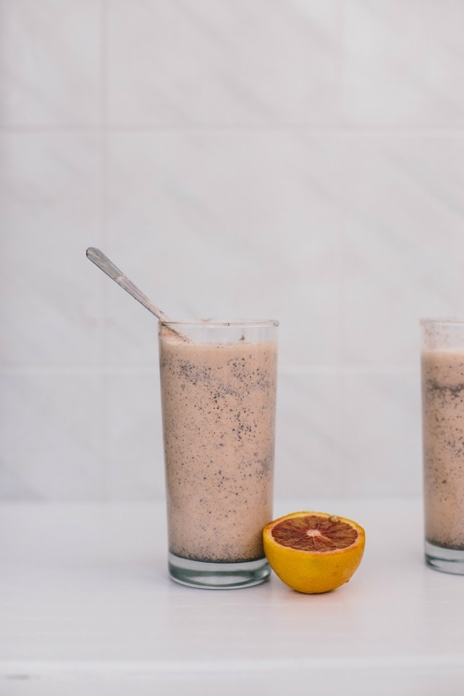 blood orange + chocolate shake | the vanilla bean blog