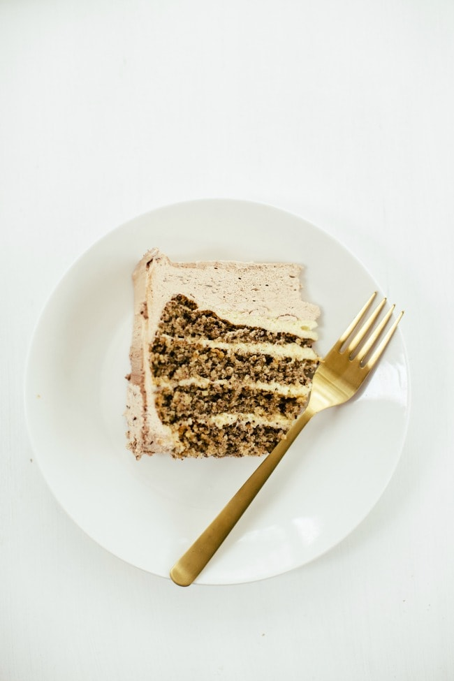 hazelnut cake with crème mousseline