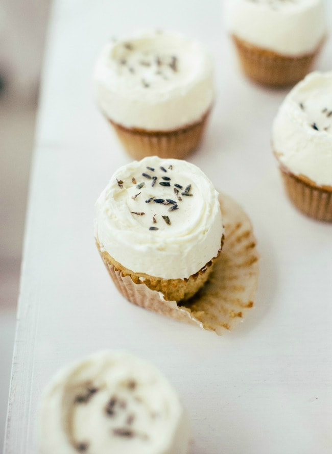 Vanilla Lavender Cupcakes | Sarah Kieffer | The Vanilla Bean Blog