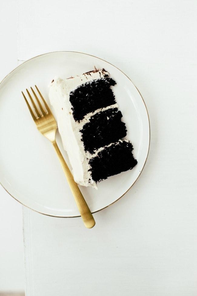 Slice of Chocolate Tiramisu Cake | Sarah Kieffer | The Vanilla Bean Blog tiramisu cake