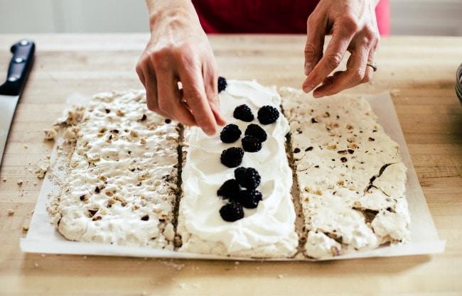 Blackberries and Cream on Meringue | Sarah Kieffer | The Vanilla Bean Blog
