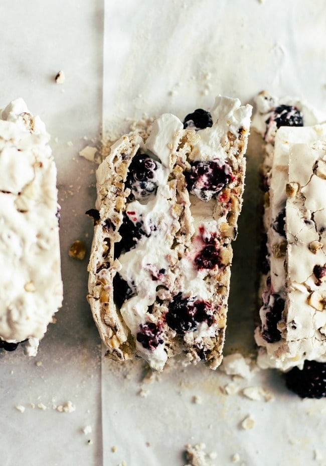 Dacquoise with Blackberries and Cream | Sarah Kieffer | The Vanilla Bean Blog